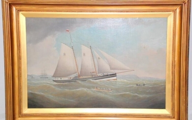 A Fine Signed J.Witham (British, 1832-1901) Oil Painting on...