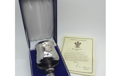 A Hallmarked Silver Limited Edition Royal Commemorative Gobl...