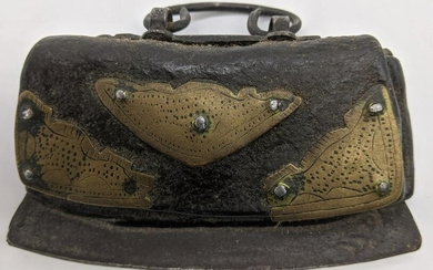 A Tibetan leather tinder pouch and striker (Icag) with