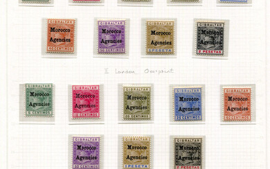 A collection of Morocco Agencies stamps in a Lighthouse album, mint and used, fairly complete from 1