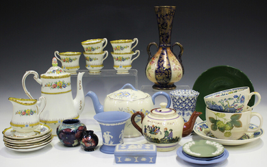 A mixed group of ceramics, mostly tablewares, late 19th/20th century, including a Paragon part coffe