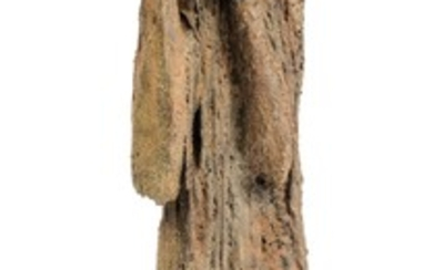 A modern sculpture of flute playing figure by the Belgian design company Pia Manu, H 189 cm