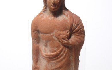 A nice Hellenistic terracotta figure of a youth