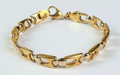 BRACELET in gold 750 ‰, weight 12.8 g, length 19.5...