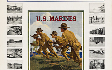 BRUCE MOORE (1905 1980) US MARINES SOLDIERS OF THE SEA Cir
