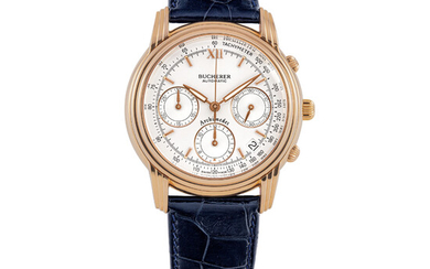 BUCHERER, PINK GOLD, CHRONOGRAPH WITH DATE