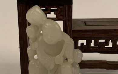 Chinese White Jade Carving of Chrild
