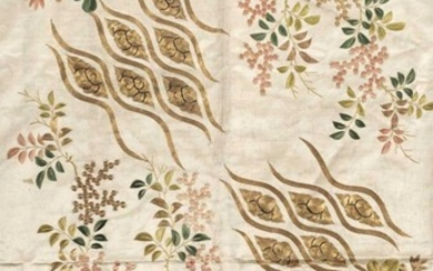 Chinese embroidery. A large piece of embroidered silk, early 19th century