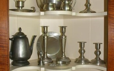 Collection of Contemporary Pewter Items