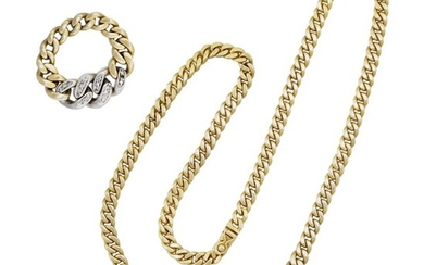 DIAMOND AND GOLD RING AND NECKLACE