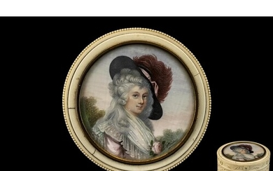 French - Early 19th Century Superb Quality - Signed Portrait...