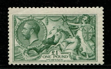 Great Britain 1913 - £1 green Seahorse - Stanley Gibbons SG403