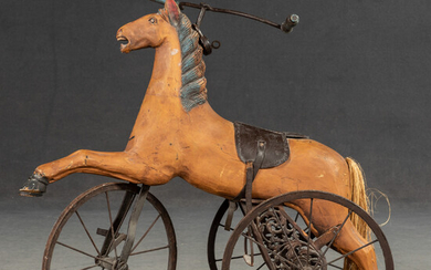 Horse as a tricycle in ancient style, 20th century.