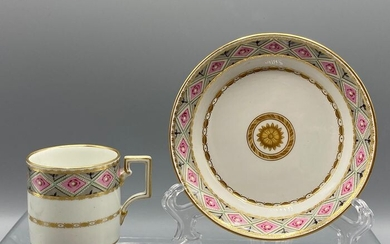 Imperial Royal Vienna - Sorgenthal Period (1784-1805) - Cup and Saucer - Empire - Porcelain