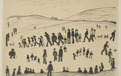 Laurence Stephen Lowry RBA RA, British 1887-1976- Sunday Afternoon, 1969; lithograph on wove, signed and numbered 16/75 in pencil, published by Ganymed Press, image 47 x 61cm (framed) (ARR)
