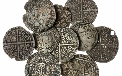 Medieval Silver Coins (11), including Groats (8)