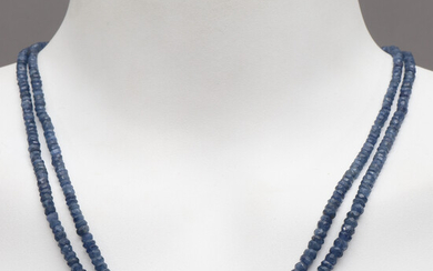 NECKLACES, sapphires & diamonds, studded in gold-plated sterling silver, contemporary.