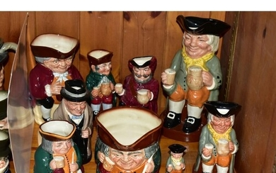 NINE ROYAL DOULTON TOBY JUGS, comprising Best Is Not Too Goo...