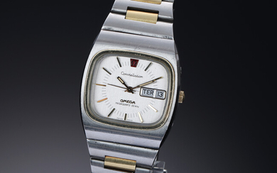 Omega 'Constellation Megaquartz 32 KHz'. Vintage men's watch in gold and steel, circa 1973