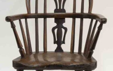 Rare Victorian child's high back Windsor arm chair