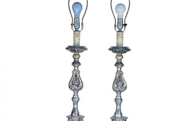Stunning Silver Plated Table Lamps