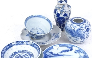 Various Oriental blue and white ceramics, including miniatur...