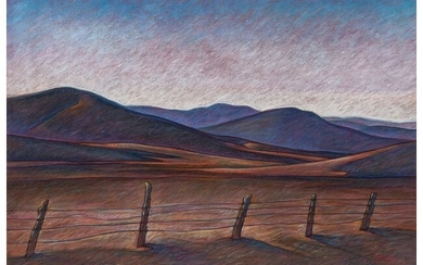 67018: Howard Post (American, b. 1948) Cattle Country P