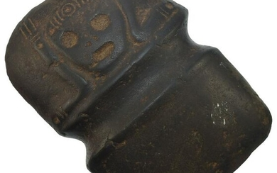 """7 1/2"""" Taino Full Groove Axe with decoration (human"""