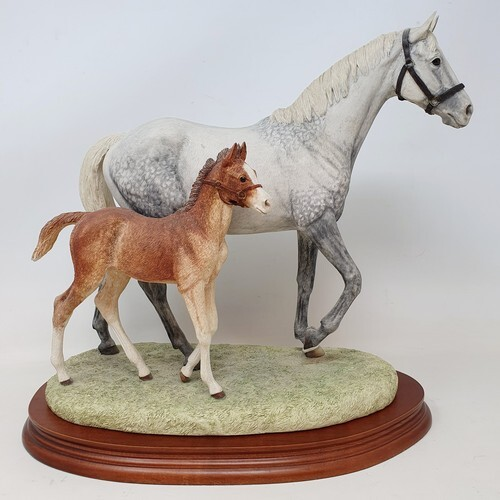 A Border Fine Arts group, Thoroughbred Mare and Foal, limite...