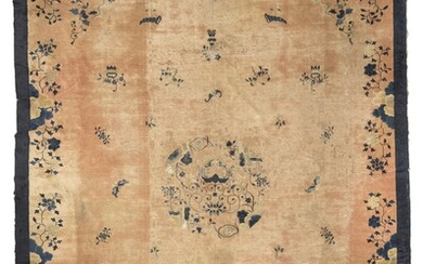 A CHINESE CARPET. BEIJING 19TH CENTURY. DEFECTS.