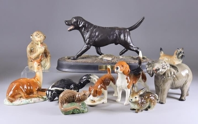A Collection of Beswick Pottery Animal Models, including -...