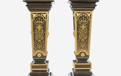 A Pair of Louis XIV Style Boulle Marquetry Inlaid