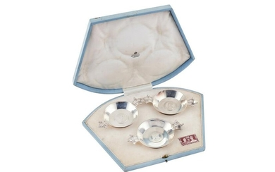 A cased set of George VI sterling silver Royal