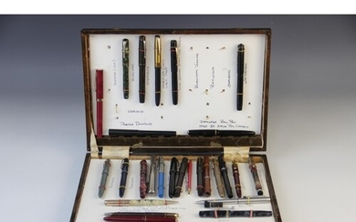 A collection of ballpoint and fountain pens, to include a bo...