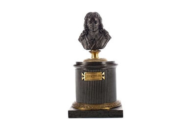 AN EARLY 19TH FRENCH BRONZE INKWELL