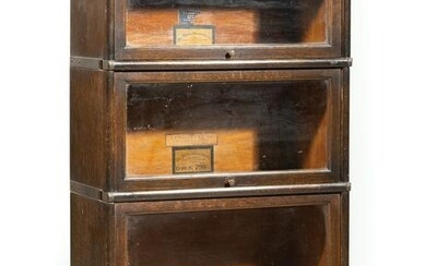 American Three Stack Barrister Bookcase