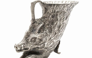 An animalier silver plated cup, about Seventies, Gabriella Crespi (1922-2017)