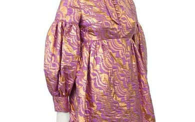 Anonymous Bronze and Lavender Baby Doll Cocktail Dress