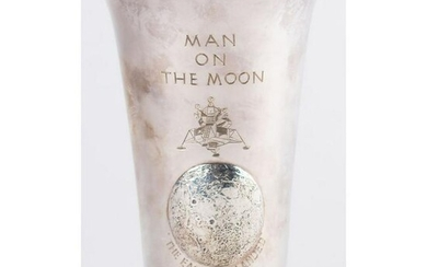 Apollo 11: Silver Beaker with Case Signed by Michael