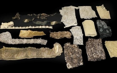 Assorted Late 19th/Early 20th Century Trims, including gilt and silver...