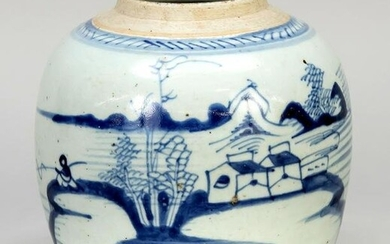 Blue and white ginger pot, Chi