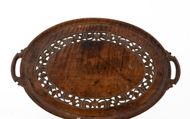 CONTINENTAL CARVED WOOD SERVING TRAY