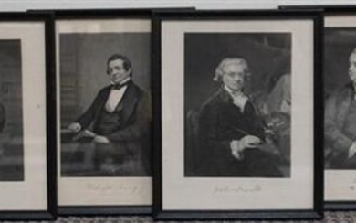 Collection of Eight Historical Figure Engravings, 11 x 9 in