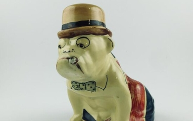 English figure in polychrome
