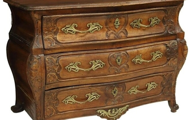FRENCH LOUIS XV PERIOD COMMODE EN TOMBEAU, 18TH C.