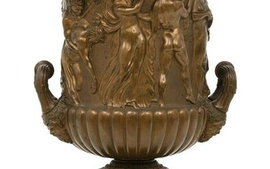 French Patinated Bronze Urn