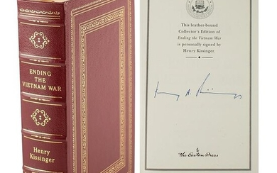 Henry Kissinger Signed Book and Signed Photograph
