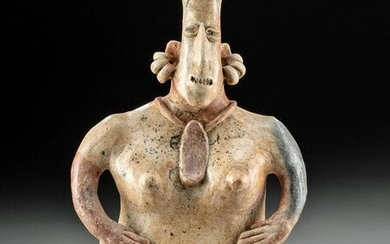 Jalisco Pottery Pregnant Female Figure, ex-Sotheby's