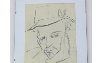 Jean Shepeard (British, 1904-1989): a charcoal sketch of the...