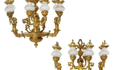 Pair of Late 19th C. Louis XVI Style Gilt Bronze